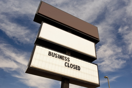Business Closed Sign